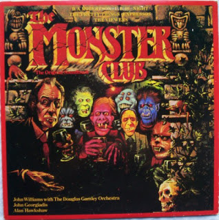 The Monster Club, an original vinyl record of the soundtrack from that film,