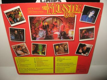 The Monster Club, an original vinyl record of the soundtrack from The Monster Club, In excellent condition,